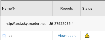 Analytics reporting that my dummy profile isn't sending data, as it should